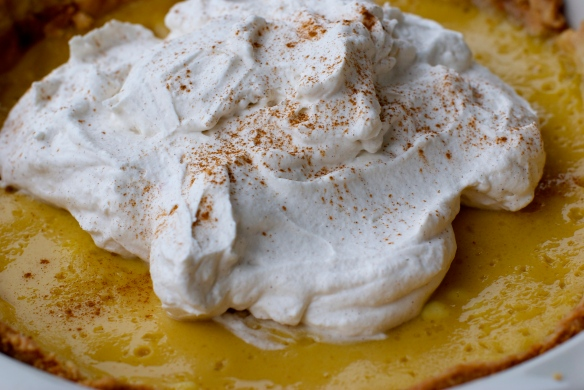 Apple Cider Cream Pie W. Cinnamon Whipped Cream