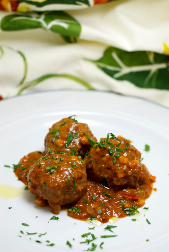 Lamb Meatballs with Homemade Harissa