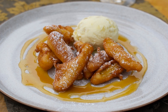 Apple Fritters and Calvados Ice Cream