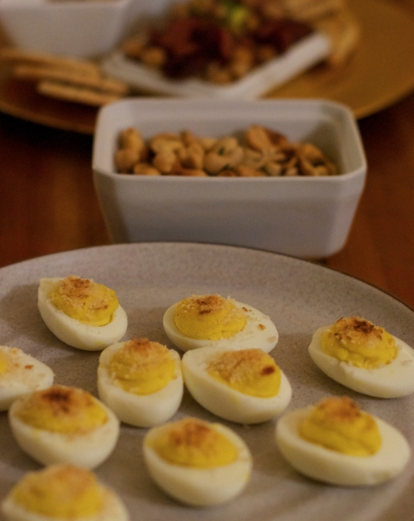 Broiled Horseradish Deviled Eggs