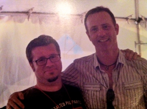 My husband with Brian Boitano at a food event in Portland in 2010.