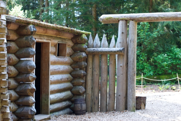 A replica of the original fort that Lewis and Clark stayed in during the winter of 1805.