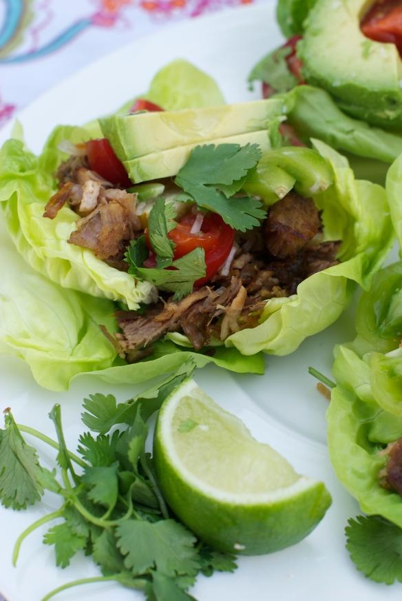 Crispy carnitas lettuce wraps #whole30
