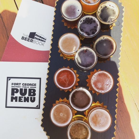 Another tasting flight from Ft. George Brewing. So much good stuff on this board!