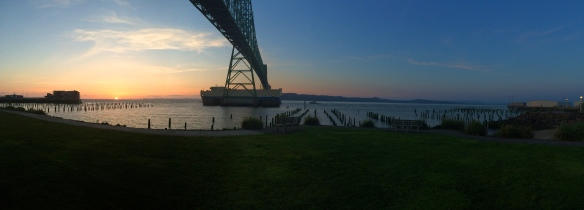 Sunset by the waterfront