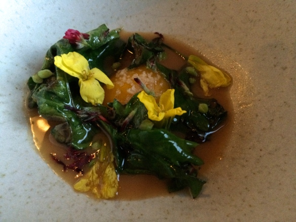 Egg Yolk, Almond, Sea Kale